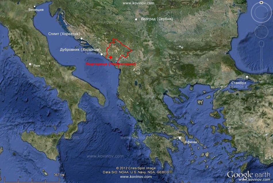 Тиват на карте черногории на русском языке