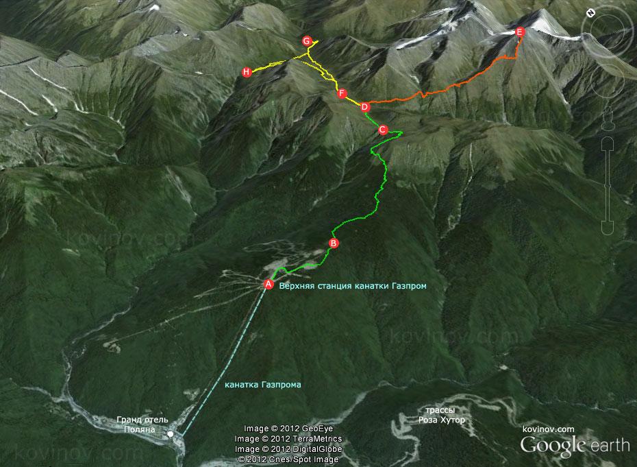 Кавказ маршруты схемы