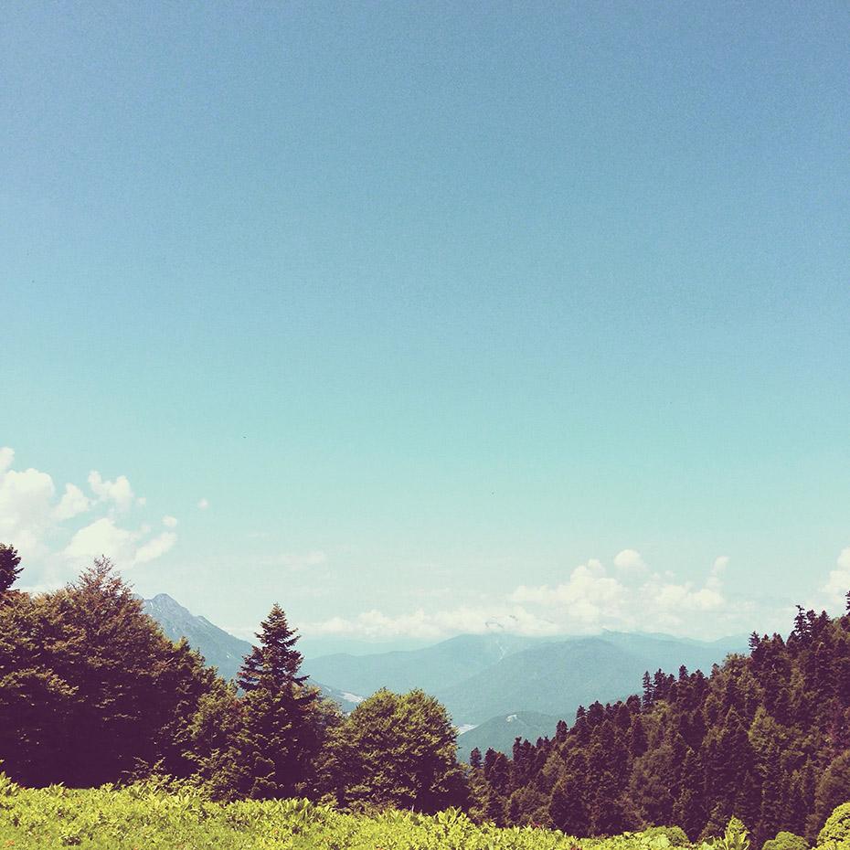 Лето в горах Красной поляны волшебно