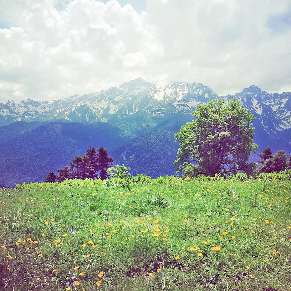 Вдали гора Агепста